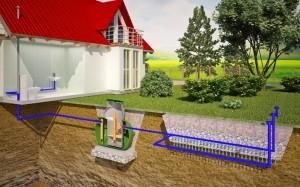 Как подключить септик к колодцам фильтрации или полям фильтрации?