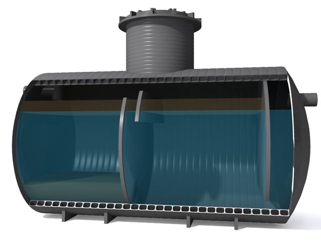 Жироуловитель для установки в глубину грунта