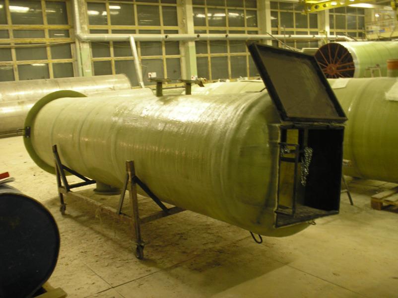 Канализационные насосные станции (КНС) для систем ливневой, производственной, пожарной и бытовой канализации из армированного стеклопластика