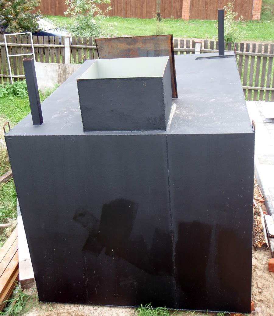 Металлический кессон для погреба