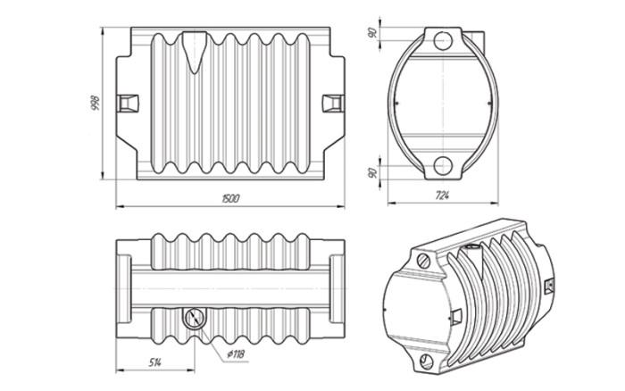 Блок биофильтра ЭкоПром. Схема